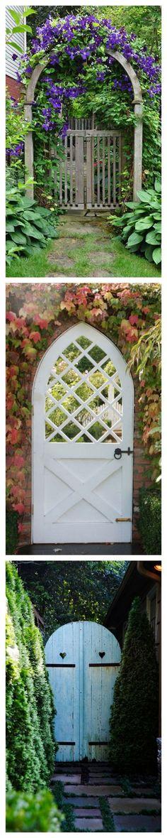 Rustic Garden Entryways by housebeautiful #Gardens More #gardenfences