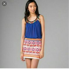 Harper Sold At Francesca's Brightly Colored Mini Harper brand skirt sold at Francesca's brighter than appears in pictures so cute for summer lots of detail Francesca's Collections Skirts Mini