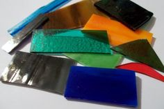 1/4 lb (4 oz) Opal Transparent and Iridescent Mix 90 COE Fusible Scrap Asst #Bullseye #Uroboros #90COE