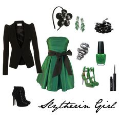 """Slytherin Girl"" by alicefloynter on Polyvore"
