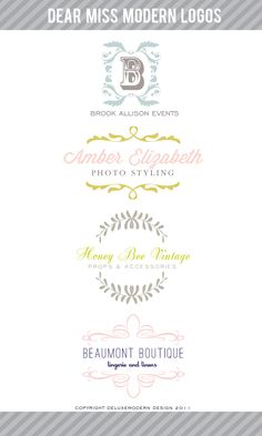 New logo additions to the Dear Miss Modern shop. 10/29/2011 #logo design