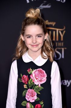 "McKenna Grace Photos Photos - Actor Mckenna Grace attends Disney's ""Beauty and the Beast"" premiere at El Capitan Theatre on March 2, 2017 in Los Angeles, California. - Premiere Of Disney's 'Beauty And The Beast' - Arrivals"