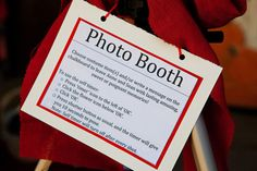 DIY photobooth sign for guests