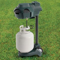 The Only Cordless Propane Mosquito Trap  This is the only cordless device that uses CO2 (created by propane to mimic human breath), octenol, and a battery powered thermoelectric module to virtually eradicate mosquitoes over an area up to one acre, eliminating the need to string an electrical cord across your property. Price $499.95