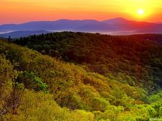 sunrise over Grandfather Mountain - Blue Ridge Parkway. I've seen this from the AT-breath taking Blue Ridge Parkway, Blue Ridge Mountains, North Carolina Mountains, Mountain Sunset, Beautiful Places In The World, Beautiful Scenery, Landscape Photos, Louisiana, Tennessee
