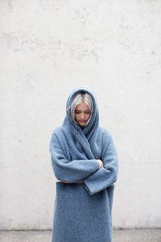 Lauren Manoogian Capote Coat in Chambray