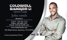 Vertical coldwell banker real estate agent business card back realtor business cards from printifycards coldwell banker biz cards from www wajeb Image collections