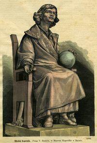 Posąg Mikołaja Kopernika autorstwa Teodora Rygiera w Rzymie - Olszewski, Kazimierz (fl. 1874-ca 1900)