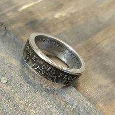 British Coin Ring - Florin - Silver Coin Ring - Vintage Men's Ring by LibertyCoinCreations on Etsy https://www.etsy.com/listing/265127766/british-coin-ring-florin-silver-coin