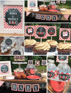 Perfect bbq baby shower set up bbq baby shower for Baby shower bbq decoration ideas