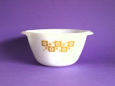 Fire King Star Glow Mixing Bowl - Vintage Anchor Hocking Milk Glass Batter Atomic Starburst Mid Century Modern - Made in USA by FunkyKoala on Etsy