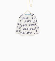 Image 1 of Letter print T-shirt from Zara