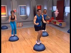 30 min Full Body BOSU Ball Workout with Dumbbells - 10 Exercises to Build Muscle & Lose Weight - YouTube