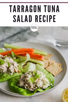 Tarragon Tuna Salad for a quick and clean meal using Blue Harbor Fish Co. Wild Caught Albacore Tuna #AD #blueharbortuna #blueharborfishco #mscbluefish #msccertified #sustainableseafood #wildcaught #wildtuna, #quickmeal #easymeal #cleancutwinner