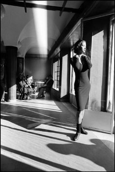 Ferdinando Scianna, Fashion story with Dutch model, Ragusa, Sicily, Italy, 1987.