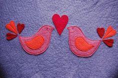 felt birds template... will make a cute pillow!