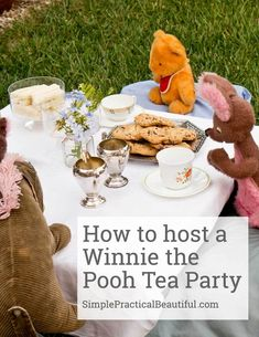 Fun ideas for a Winn Fun ideas for a Winnie the Pooh tea party based on a scene from the Christopher Robin movie. Cute birthday party idea for any little boy or girl 1st Birthday Girls, Birthday Parties, Kid Parties, Birthday Ideas, Christopher Robin Movie, Nibbles For Party, Tea Party Table, Kids Party Themes, Party Ideas