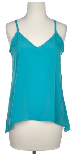 Lacer Back Tank in Teal - $32.50