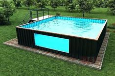 77 Container Pools Cost More click [.] Container Pools Cost Swimming Pools Container Pools Easy In Swiming Pool, Small Swimming Pools, Small Backyard Pools, Backyard Play, Swimming Pools Backyard, Swimming Pool Designs, Pool Landscaping, Outdoor Pool, Building A Container Home