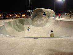 outside skate park full pipe - Google Search
