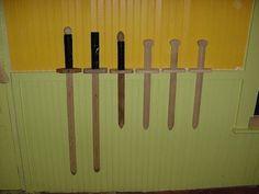 DIY wooden swords