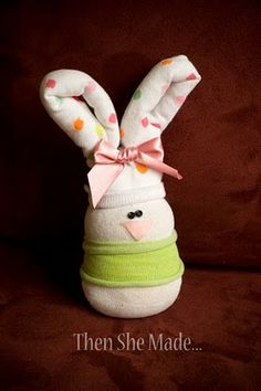 I tell you what, having Easter in March is kind of throwing me off a bit. I always associate Easter with April, and true, this year it& fa. Easter Projects, Easter Crafts, Crafts For Kids, Easter Ideas, Fun Crafts, Sock Snowman Craft, Sock Crafts, Spring Crafts, Holiday Crafts