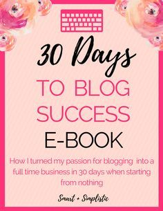 How I turned my blog into a full time business in 30 days. This ebook walks you though every thing you need to know to turn your blog of any size into your full time job. This book covers every single day of my month and includes a....