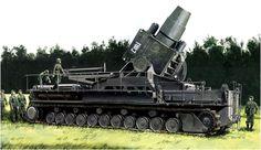 Mörser Karl 60cm 'Loki'. Ron Volstad Dos morteros de la Karl-Batterie 638 fueron utilizados para bombardear el puente de Remagen, que finalmente fueron capturados por los americanos. Más en www.elgrancapitan.org/foro/