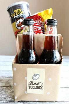13 DIY Father's Day Gift Baskets - Homemade Ideas for Gift Baskets for Dad day gifts ideas from daughter homemade Personalized DIY Father's Day Gift Baskets for a Thoughtful Touch Diy Father's Day Gift Baskets, Fathers Day Gift Basket, Homemade Fathers Day Gifts, Fathers Day Crafts, Daddy Gifts, Diy Gifts Dad, Good Fathers Day Gifts, Good Gifts For Dad, Cute Fathers Day Ideas