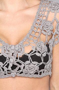 Crochet motif bolero