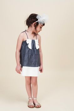 Hucklebones summer 2013 great girlswear details with open eyelet fabric and front decorative bows from the British design team.