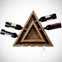 Triangular Wine Rack