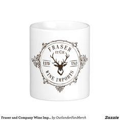 Fraser and Company Wine Imports - Outlander Classic White Coffee Mug