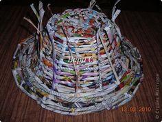 Мастер-класс Плетение Очередной обещанный МК по плетению корзинок с полями Бумага газетная фото 9