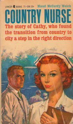 Nurses by the Book – Country Nurse Fiction Novels, Pulp Fiction, Nurse Photos, Nurse Jokes, Nurse Art, Nursing Books, Nursing Quotes, Vintage Book Covers, Printmaking