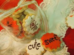Personalized  Sugar Cookies by PetiteMeringues on Etsy, $13.95