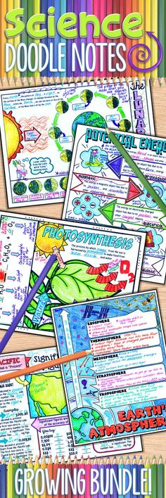 Get your students engaged and excited in your science classroom! This growing set of doodle notes can be used with any grade level. Use my guided notes or create your own custom notes using the blank doodle note. These are great for interactive notebooks or for mini anchor charts for your students. Pay one price and receive all current and future doodle notes!