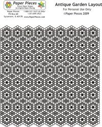 Great site with print off layouts -antique garden layout with hexagons quilt pattern. Lots of different designs to try