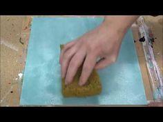 La pintura abstracta / demostración /acrílico / espátula / Reflejos - YouTube