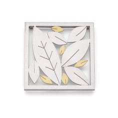 Five gold leaves Brooch by Diana Greenwood
