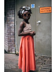 tank top and maxi skirt - La Petite magazine digital issue 15 (spring/summer Beautiful Children, Beautiful Babies, Little People, Little Girls, Belle Silhouette, Chica Cool, Natural Hairstyles For Kids, Little Fashionista, Stylish Kids
