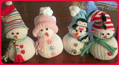 Huckleberry Love: Super Simple DIY Sock SnowMen {Tutorial} Source by Sock Snowman Craft, Sock Crafts, Snowman Crafts, Christmas Ornament Crafts, Christmas Crafts For Kids, Holiday Crafts, Christmas Diy, Diy Projects For Men, Navidad Diy