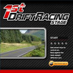 You are racing in a time trial in Drift Rally Tarmac and you have to try and set up the fastest possible time.