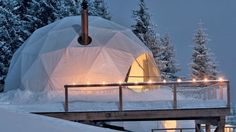 The Whitepod Hotel in the Swiss Alps, is a series of geodesic domes offering amazing mountain views. The Whitepod Hotel pods, designed to combine ecology and… What Is Glamping, Dome Tent, Swiss Alps, Campsite, Eco Friendly, National Parks, World, Outdoor, Switzerland