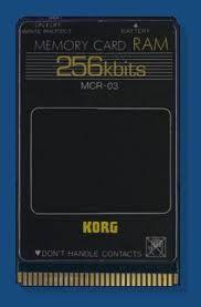 Korg Mrc-03 memory Ram card
