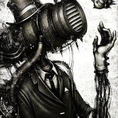 Shingo Matsunuma - Un monde fantaisiste, mystérieux et poétique, qui est peuplé de créatures hybrides entre humains et robots. Les créations de Shichigoro sont d'une précision époustouflante !  http://space-art.fr/cyborg-shingo-matsunuma/