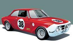 Alfa Romeo GTAm Poster