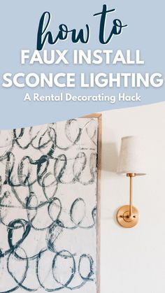 Budget Home Decorating, Decorating Tips, Diy Home Decor Projects, Decor Ideas, Puck Lights, Small Apartment Living, Sconce Lighting, Diy Wall Decor, Interior Inspiration