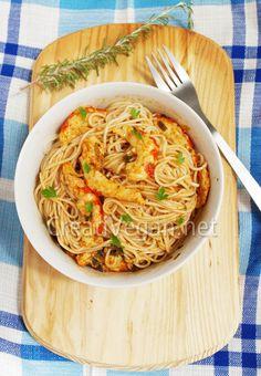 Pasta scampi vegana.   Receta/Recipe: http://www.creativegan.net/archives/pasta-scampi-vegana/#