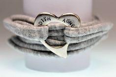 *** handgestempeltes Wickelarmband mit Herz*** von schuys auf DaWanda.com